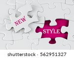 white puzzle with void in the... | Shutterstock . vector #562951327