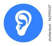 ear icon in black style...   Shutterstock .eps vector #562955107