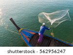 Muslim Fisherman Fishing Nets...