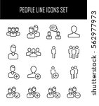 set of people icons in modern... | Shutterstock .eps vector #562977973