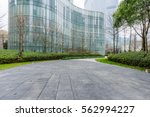 square front of modern office... | Shutterstock . vector #562994227