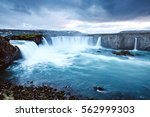 great view of powerful godafoss ... | Shutterstock . vector #562999303