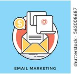 email marketing vector icon | Shutterstock .eps vector #563008687
