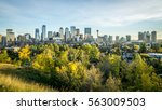 autumn morning in downtown... | Shutterstock . vector #563009503