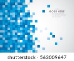 vector of stylized geometric... | Shutterstock .eps vector #563009647