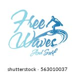 surf. typography california... | Shutterstock .eps vector #563010037