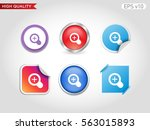 colored icon or button of zoom... | Shutterstock .eps vector #563015893