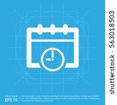 calendar web icon  | Shutterstock .eps vector #563018503