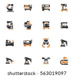 vector machine tool icons set.... | Shutterstock .eps vector #563019097