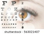 close up image of human eye... | Shutterstock . vector #563021407