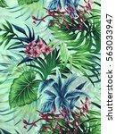 the beautiful of art fabric...   Shutterstock . vector #563033947