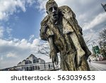 Small photo of Dublin, Ireland - April 10, 2015. A sculpture of the Great Famine or Great Hunger monument. The Great Famine was a period of mass starvation, disease, and emigration in Ireland between 1845 and 1852.