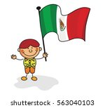 mexico flag kids collection | Shutterstock .eps vector #563040103