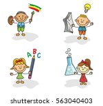 learning kids collection | Shutterstock .eps vector #563040403