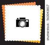 camera  icon. vector design.