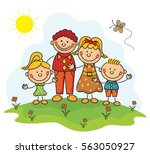 family kids collection | Shutterstock .eps vector #563050927