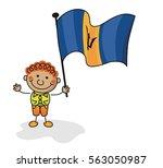 barbados flag kids collection | Shutterstock .eps vector #563050987