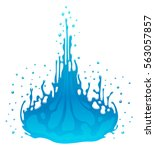 water splash design element | Shutterstock .eps vector #563057857