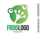 frog toad logo icon symbol... | Shutterstock .eps vector #563062603
