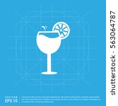 juice icon. cocktail drink icon