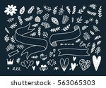 vector doodle elements ... | Shutterstock .eps vector #563065303