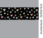 gray horizontal design with... | Shutterstock . vector #563067613