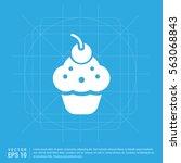 ice cream icon | Shutterstock .eps vector #563068843