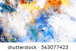 abstract sky with shiny color... | Shutterstock . vector #563077423