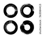 vector brush strokes circles of ... | Shutterstock .eps vector #563084413