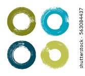 vector brush strokes circles of ... | Shutterstock .eps vector #563084437