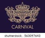 mardi gras carnival mask of... | Shutterstock .eps vector #563097643