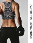 studio portrait of sportswoman... | Shutterstock . vector #563103697