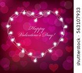 vector realistic st. valentine... | Shutterstock .eps vector #563107933