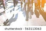 people walking on the... | Shutterstock . vector #563113063