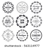 vector set of various small... | Shutterstock .eps vector #563114977