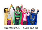 superhero kids friendship... | Shutterstock . vector #563116543