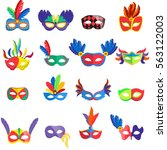 Masquerade Colorful Masks Set....