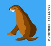 sea lion | Shutterstock .eps vector #563137993