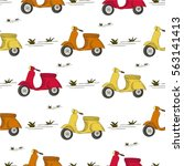 seamless vector pattern.... | Shutterstock .eps vector #563141413