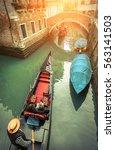 Venice. Gondoller And Gondolas...