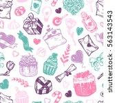 valentine's day. vector... | Shutterstock .eps vector #563143543