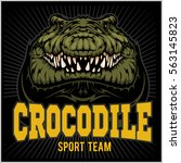 crocodile mascot for a sport... | Shutterstock .eps vector #563145823