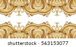 vintage decorative ornament.... | Shutterstock . vector #563153077