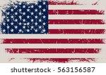grunge usa flag.old american... | Shutterstock .eps vector #563156587