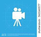 video camera icon | Shutterstock .eps vector #563160577