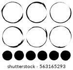 circular painted circles.... | Shutterstock . vector #563165293
