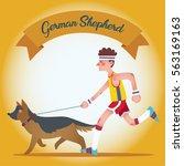 a man dressed sporty running... | Shutterstock .eps vector #563169163