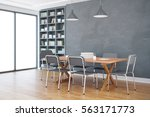 front view of modern library... | Shutterstock . vector #563171773