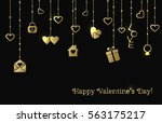 vector greeting card for... | Shutterstock .eps vector #563175217