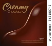 creamy chocolate wave melting | Shutterstock .eps vector #563180743